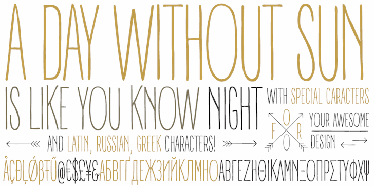 A DAY WITHOUT SUN font by Zetafonts