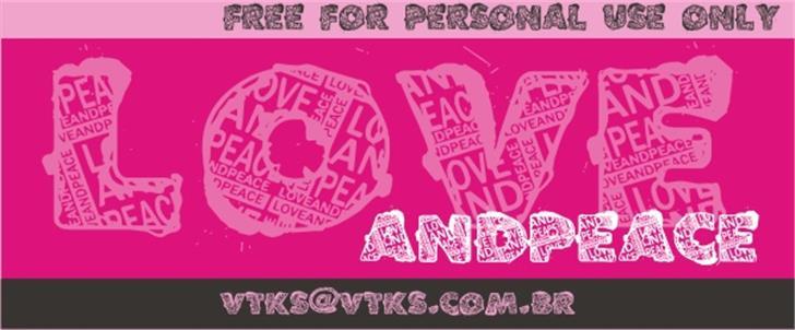 VTKS LOVEANDPEACE Font poster design