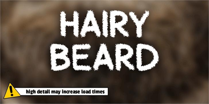 Hairy Beard Font poster