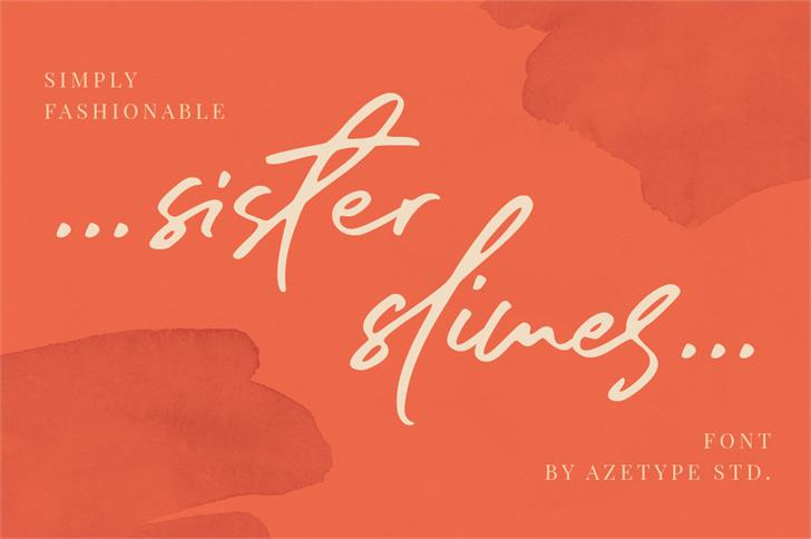 sister slimes font poster