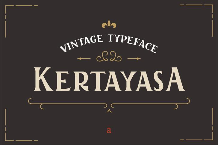 Kertayasa Font design screenshot