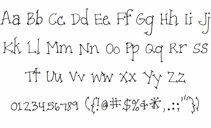 Patient Paige Font Letters Charmap