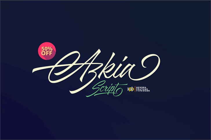 Azkia Demo Font design text