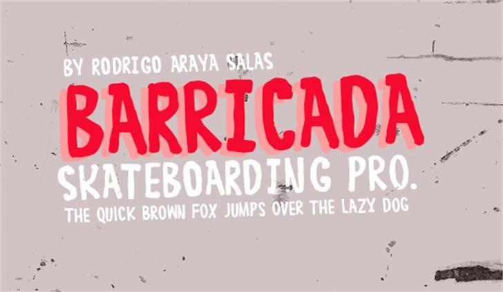 BARRICADA Font design poster