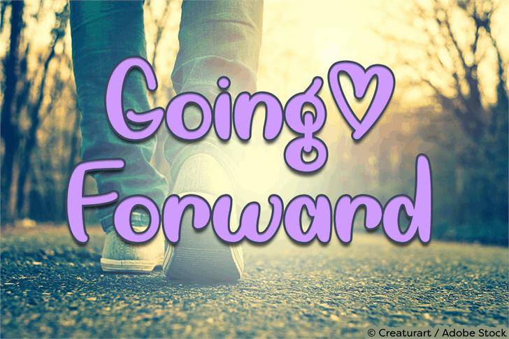 Going Forward Font screenshot poster
