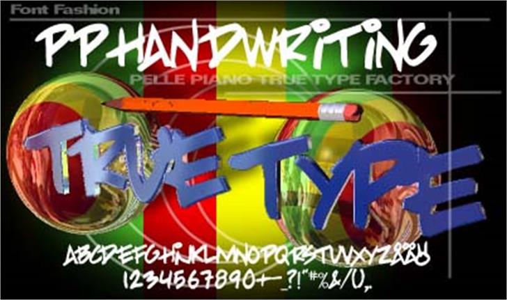 PP Handwriting Font screenshot poster