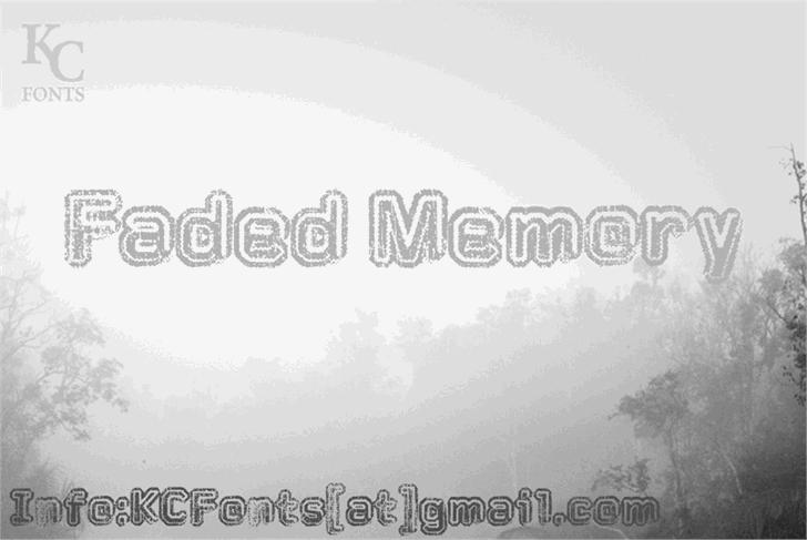 Faded Memory Font fog tree
