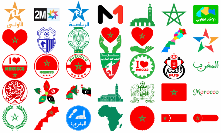 Font Morocco Color Font design cartoon