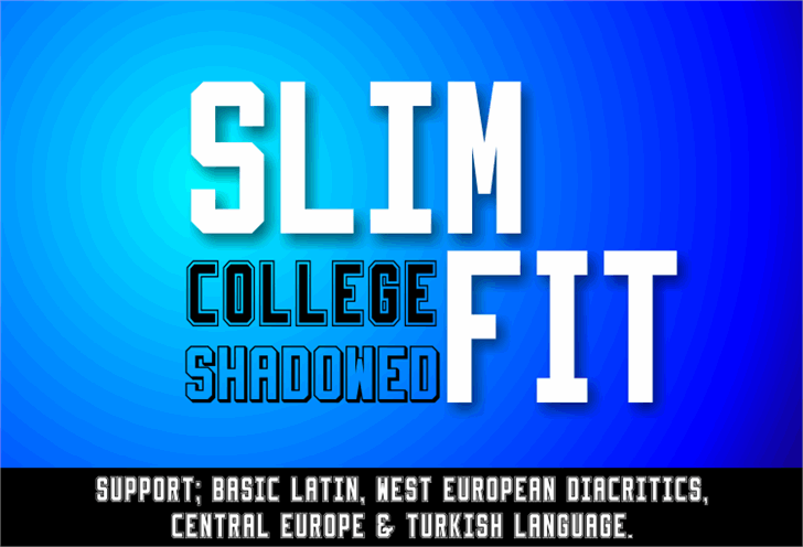 Slimfit Font screenshot poster