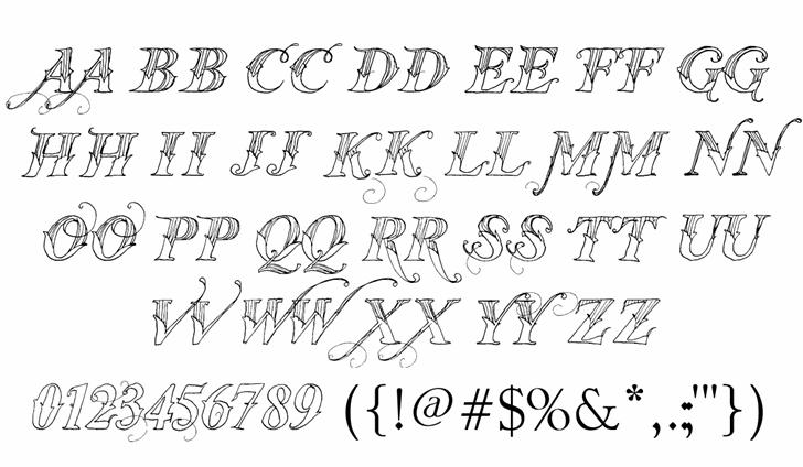 Vtks Thanks You Font Letters Charmap