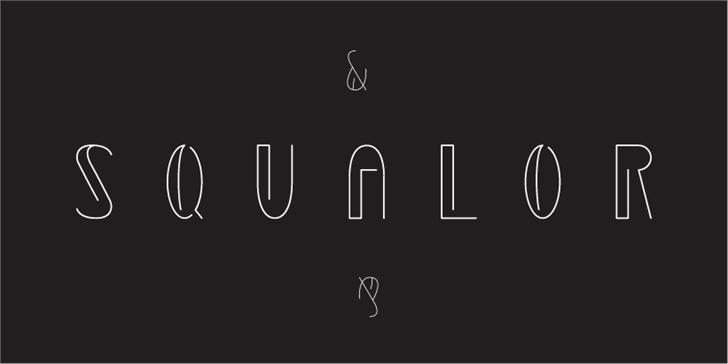 Squalor Font design graphic