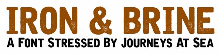 Iron & Brine Font design graphic