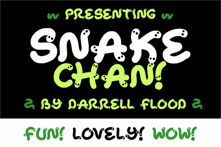 Snake Chan Font cartoon screenshot