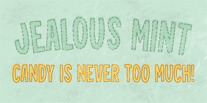 Jealous Mint DEMO Font handwriting text