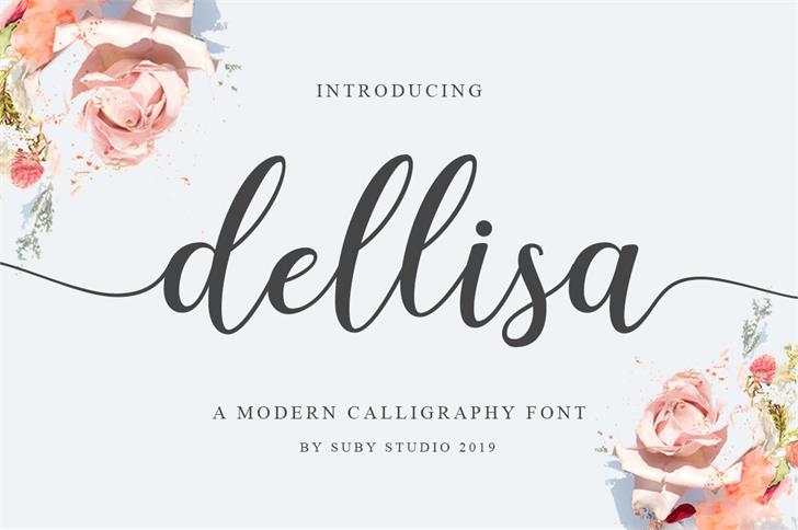Dellisa Demo Font poster