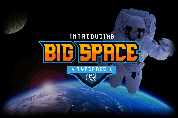 Big Space font by Nurf Designs