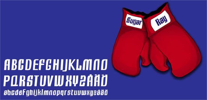 Sugar Ray Font cartoon design