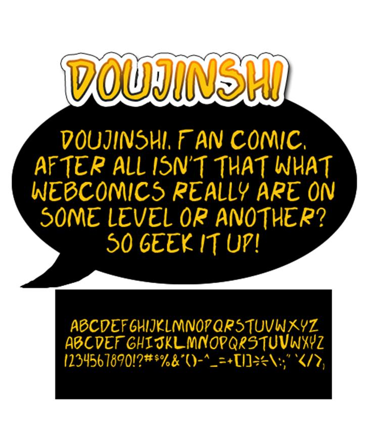 Doujinshi Font text design