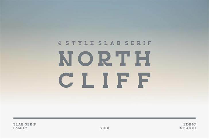 NORTHCLIFF Font abstract