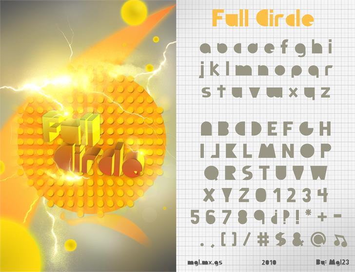 Full Circle Font screenshot design