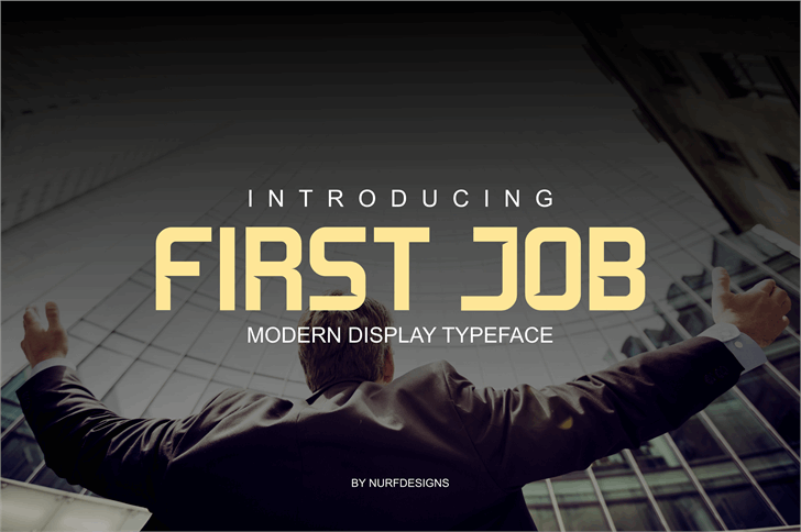 First Job Font screenshot person
