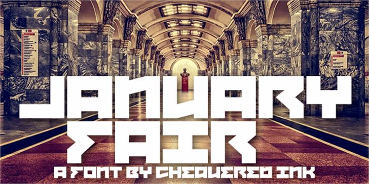 January Fair Font building art