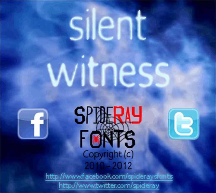 silent witness Font screenshot text