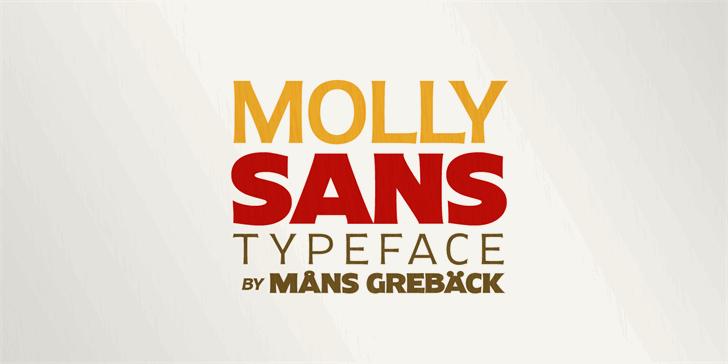 Molly Sans Font design poster