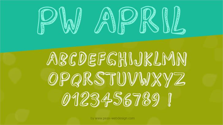 PWApril Font handwriting text
