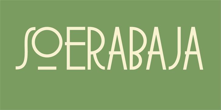 DK Soerabaja Font design graphic