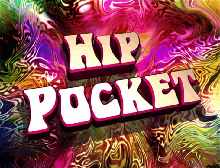 Hip Pocket Font cartoon