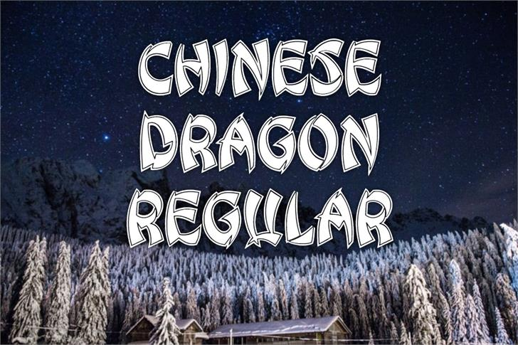 Chinese Dragon Font poster