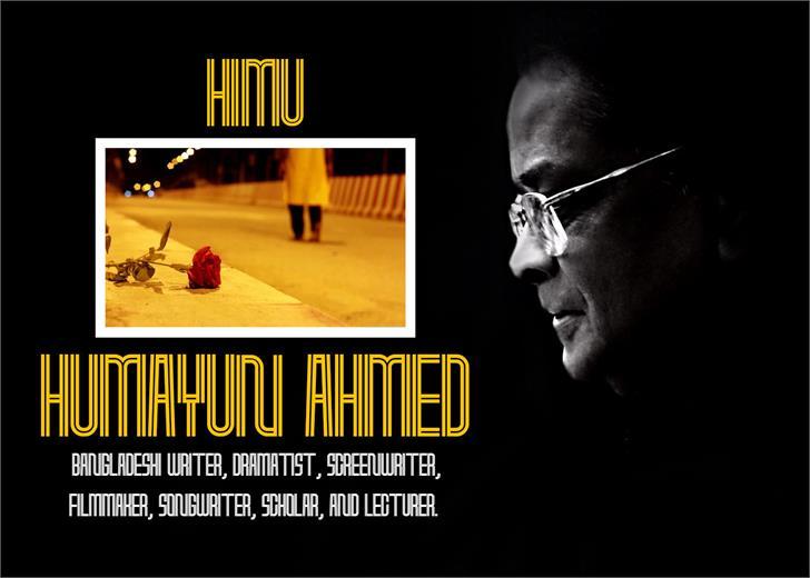 Humayun Ahmed Font poster