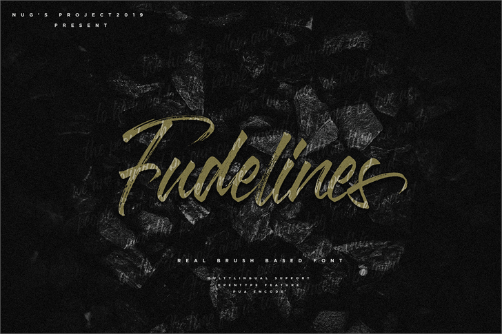 Fudelines Font handwriting