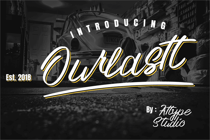 Ourlastt-Demo Font screenshot design