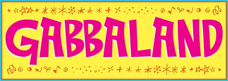 Gabbaland Font sign graphic