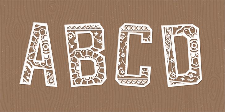 Forgotten Playbill Font design drawing