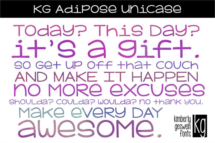 KG Adipose Unicase Font typography design