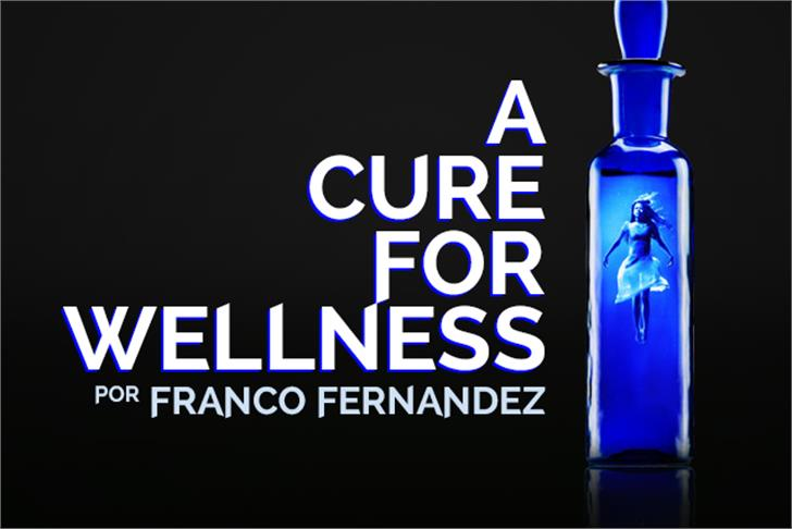 A Cure For Wellness Font screenshot design