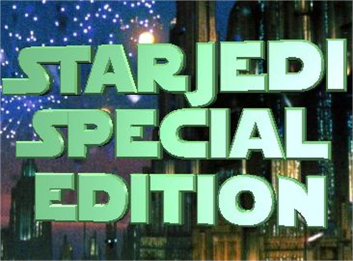 StarJedi Special Edition Font text poster