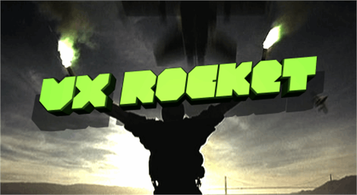VX Rocket Font screenshot cartoon