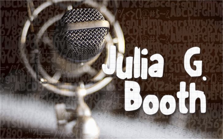 JuliaGBooth font by Julia Guinto
