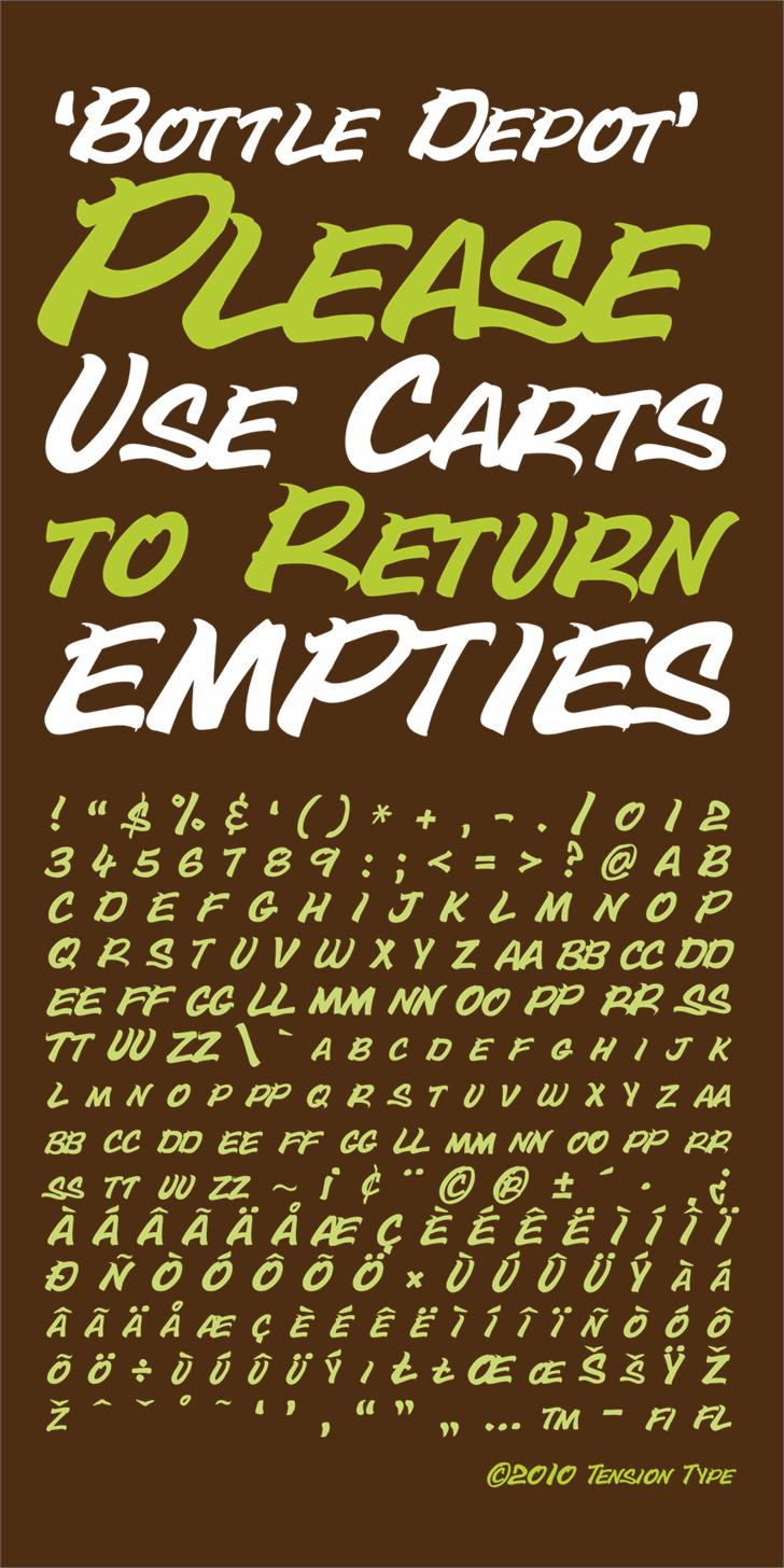 Bottle Depot Font design typography