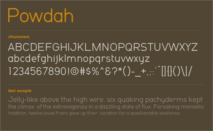 Powdah Font screenshot design