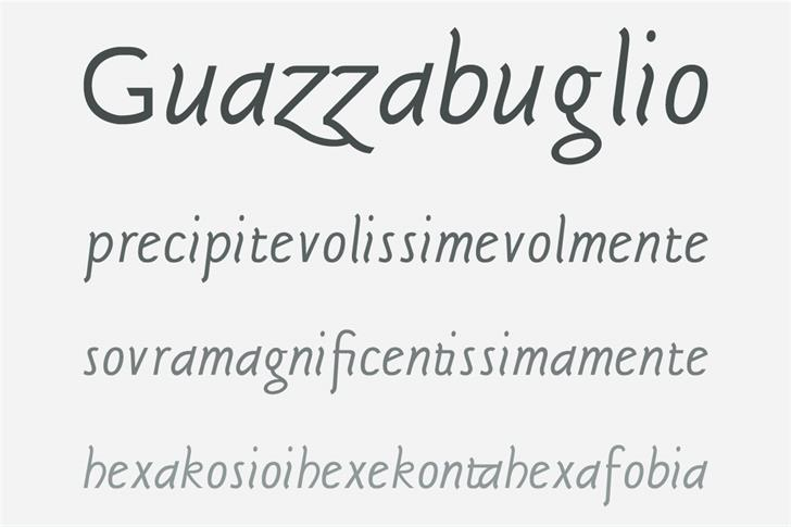 Sgriffo Font handwriting typography