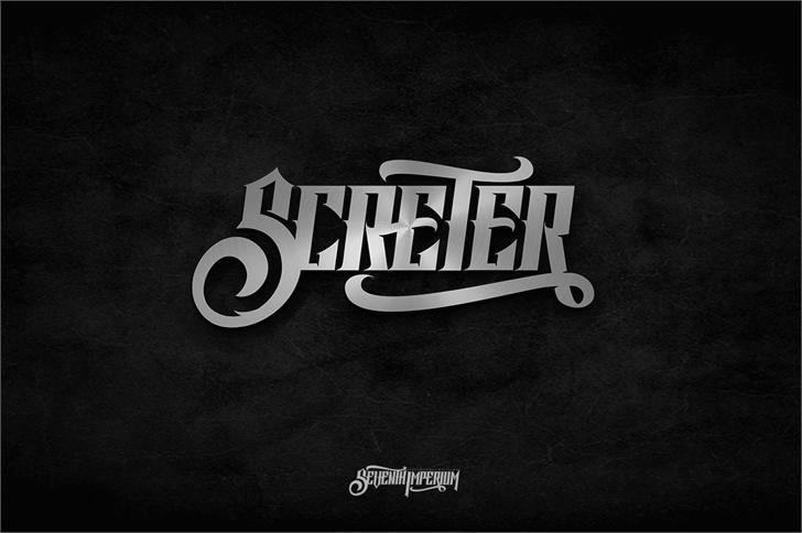 Screter font by seventhimperium