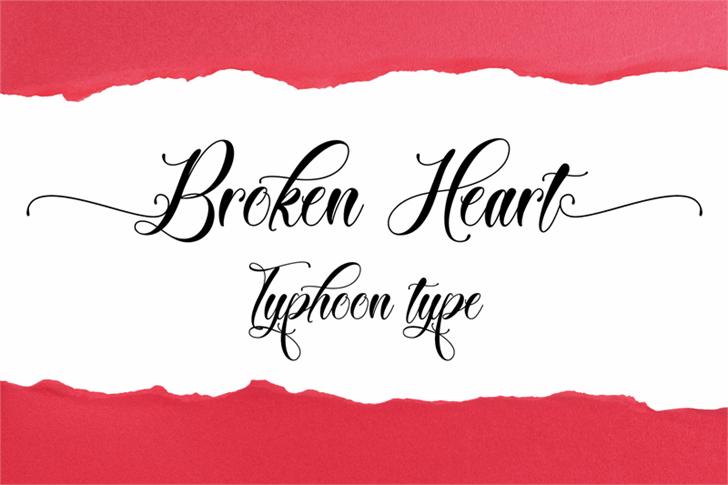 Broken Heart font by Typhoon Type - Suthi Srisopha
