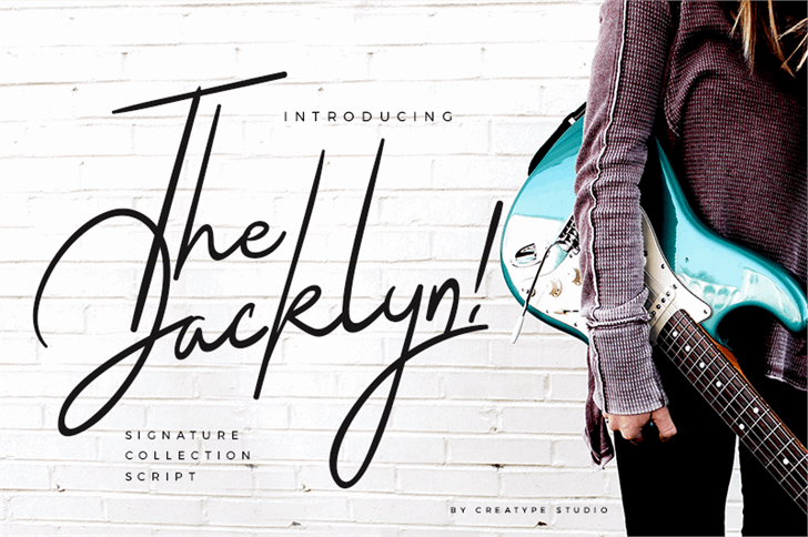 The Jacklyn Font handwriting drawing