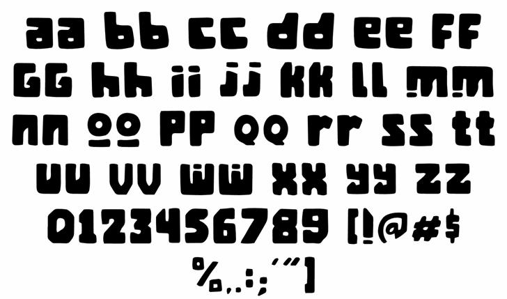 Mangan Ngombe Font Letters Charmap