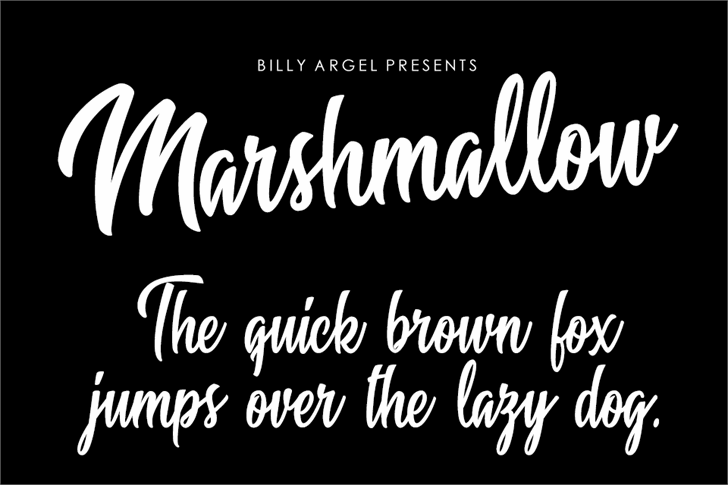 Marshmallow Personal Use Font handwriting text